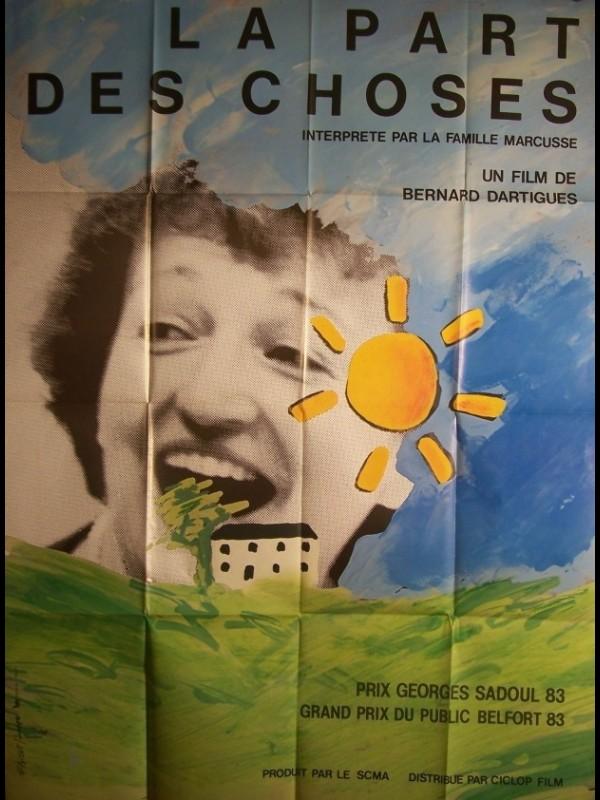 Affiche du film PART DES CHOSES (LA)