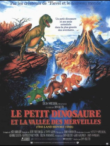 Affiche du film PETIT DINOSAURE ET LA VALLEE DES MERVEILLES (LE) - THE LAND BEFORE TIME