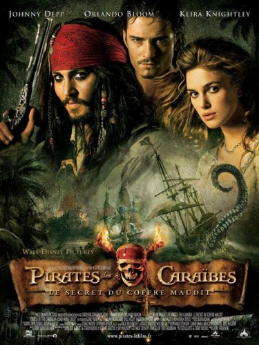 Affiche du film PIRATES DES CARAIBES 2 LE SECRET DU COFFRE MAUDIT - PIRATES OF THE CARIBBEAN : DEAD MAN'S CHEST