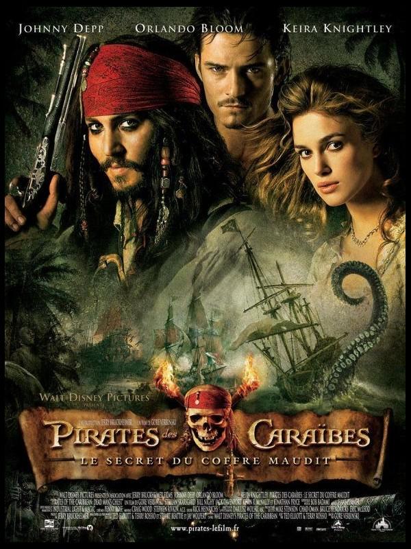 Affiche du film PIRATES DES CARAIBES 2 LE SECRET DU COFFRE MAUDIT - PIRATES OF THE CARIBBEAN : DEAD MAN'S CHEST