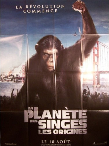 Affiche du film PLANETE DES SINGES (LA) -LES ORIGINES- - RISE OF THE PLANET OF THE APES