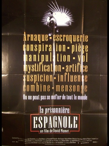 Affiche du film PRISONNIERE ESPAGNOLE (LA) - THE SPANISH PRISONER