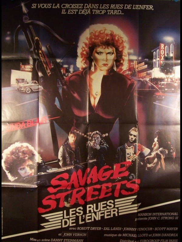Affiche du film RUES DE L'ENFER (LES) - SAVAGE STREETS