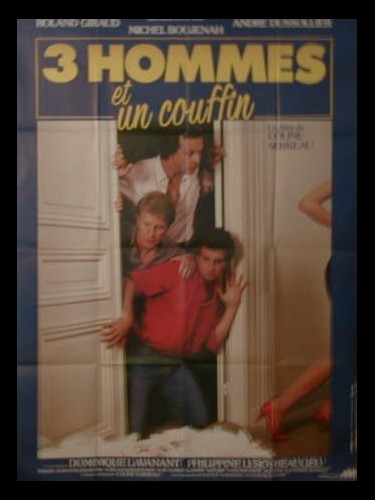 Affiche du film 3 HOMMES ET UN COUFFIN