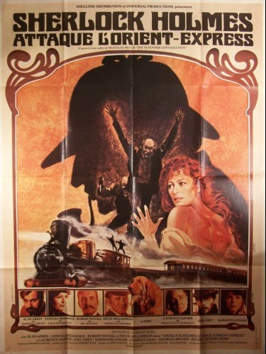 Affiche du film SHERLOCK HOLMES ATTAQUE L'ORIENT EXPRESS - THE SEVEN-PER-CENT SOLUTION