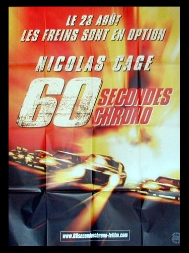 Affiche du film SOIXANTE SECONDES CHRONO - GONE IN SIXTY SECONDS