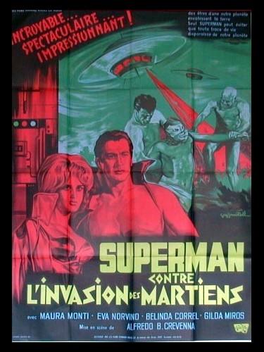 Affiche du film SUPERMAN CONTRE L'INVASION DES MARTIENS - SANTO EL ENMASCARADO DE PLATA VS 'LA INVASIÓN DE LOS MARCIANOS