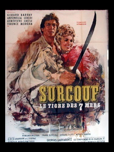 Affiche du film SURCOUF LE TIGRE DES SEPT MERS - SURCOUF, L'EROE DEI SETTE MARI