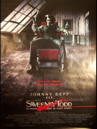 Affiche du film SWEENEY TOOD , LE DIABOLIQUE BARBIER DE FLEET STREET - SWEENEY TODD: THE DEMON BARBER OF FLEET STREET