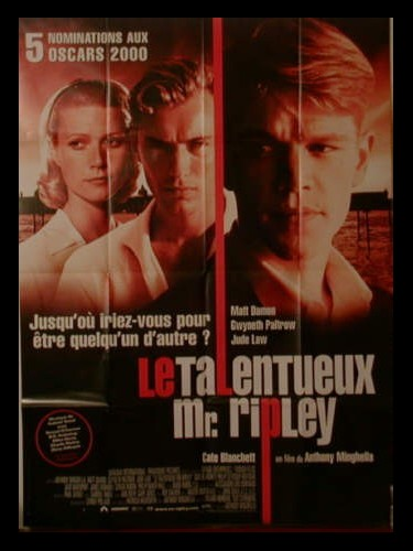 Affiche du film TALENTUEUX MR.RIPLEY (LE) - THE TALENTED MR. RIPLEY
