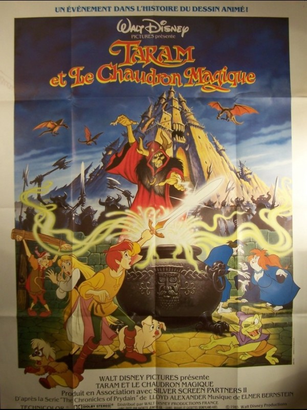 Affiche du film TARAM ET LE CHAUDRON MAGIQUE - BLACK CAULDRON (THE)