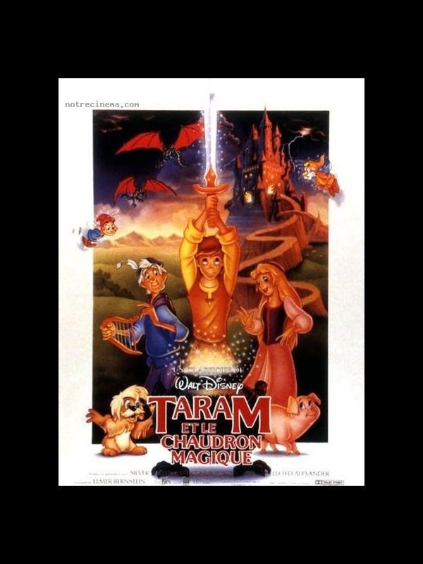 Affiche du film TARAM ET LE CHAUDRON MAGIQUE - THE BLACK CAULDRON