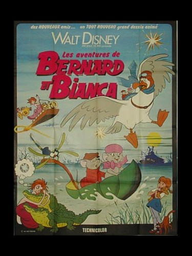 Affiche du film AVENTURES DE BERNARD ET BIANCA (LES) - THE RESCUERS