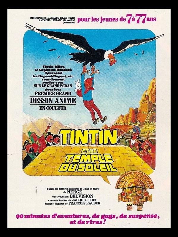Affiche du film TINTIN ET LE TEMPLE DU SOLEIL