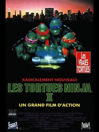 Affiche du film TORTUES NINJA 2 (LES) - THE SECRET OF THE OOZE