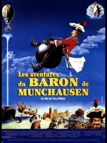 Affiche du film AVENTURES DU BARON MUNCHAUSEN (LES) - THE ADVENTURES OF BARON MUNCHAUSEN
