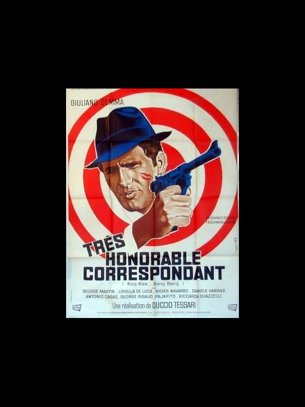 Affiche du film TRES HONORABLE CORRESPONDANT - KISS KISS... BANG BANG