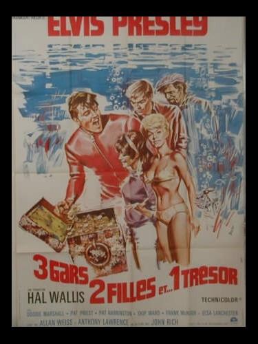Affiche du film TROIS GARS DEUX FILLES ET …UN TRESOR