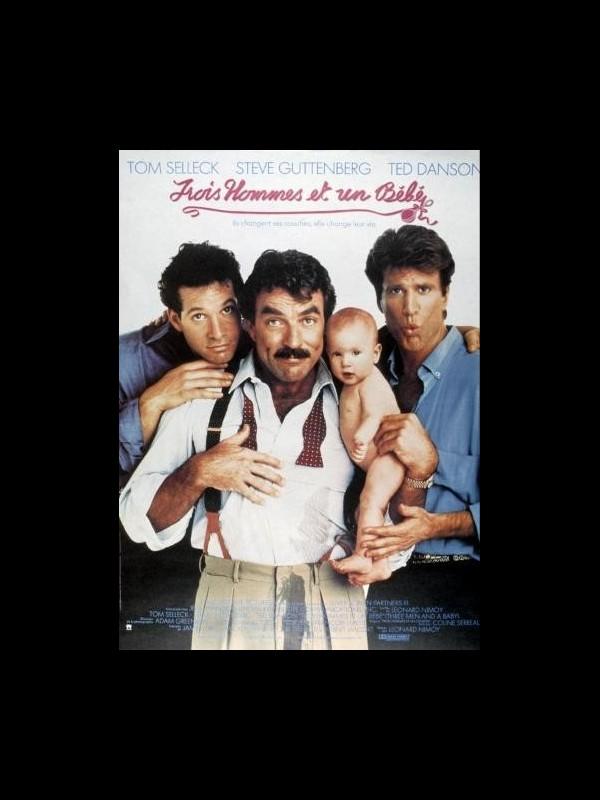 Affiche du film TROIS HOMMES ET UN BEBE - THREE MEN AND A BABY
