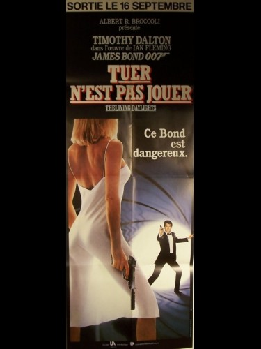 Affiche du film TUER N'EST PAS JOUER (JAMES BOND) - THE LIVING DAYLIGHTS