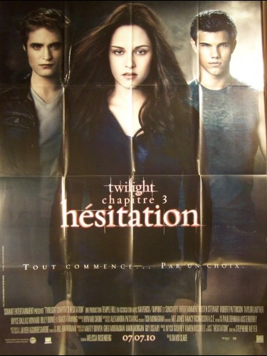 Affiche du film TWILIGHT III HESITATION - ECLIPSE