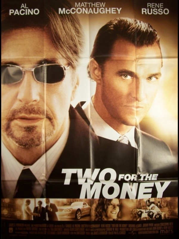 Affiche du film TWO FOR THE MONEY