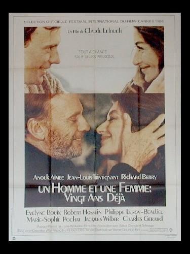 Affiche du film UN HOMME ET UNE FEMME : VINGT ANS DEJA