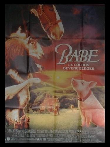 Affiche du film BABE LE COCHON DEVENU BERGER - BABE, THE GALANT PIG