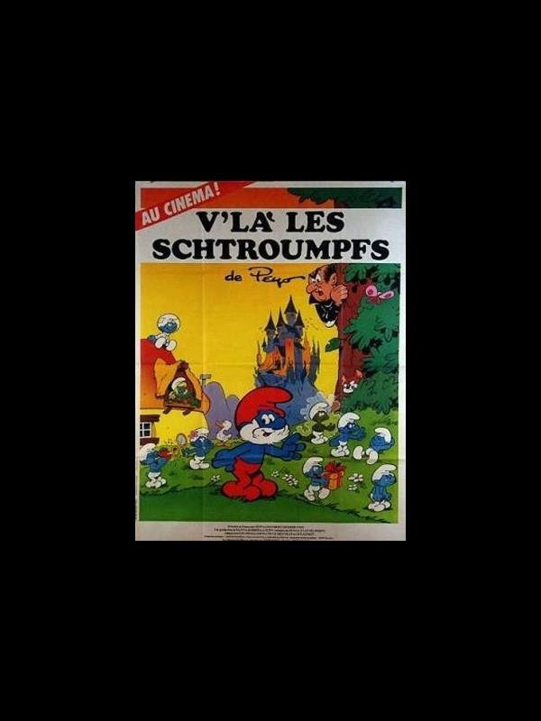 Affiche du film V'LA LES SCHTROUMPFS