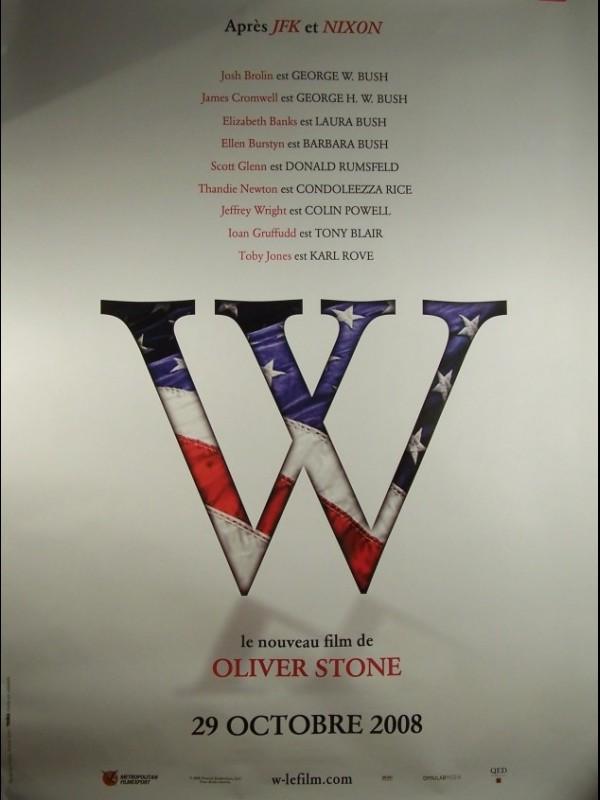 Affiche du film W (L'IMPROBABLE PRESIDENT)(MOTIF A)
