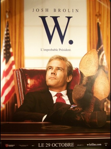 Affiche du film W(L'IMPROBABLE PRESIDENT) (MOTIF BB)