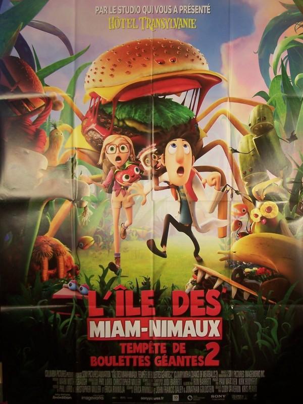 Affiche du film ILE DES MIAM-NIMAUX : tempete de boulettes geantes 2