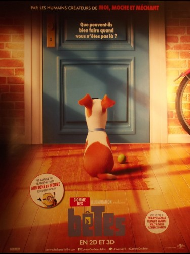 Affiche du film COMME DES BETES - THE SECRET LIFE OF PETS 2