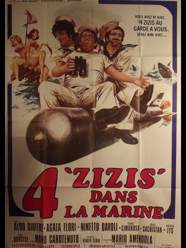 Affiche du film 4 ZIZIS DANS LA MARINE - Titre original : PASQUALINO CAMMARATA , CAPITAN DE FREGATA