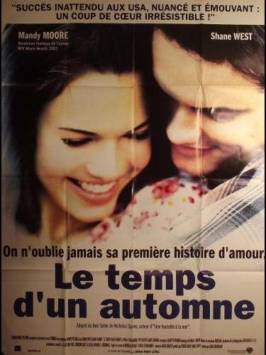 Affiche du film LE TEMPS D'UN AUTOMNE - Titre original : A WALK TO REMEMBER