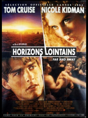 Affiche du film HORIZONS LOINTAINS - Titre original : FAR AND AWAY