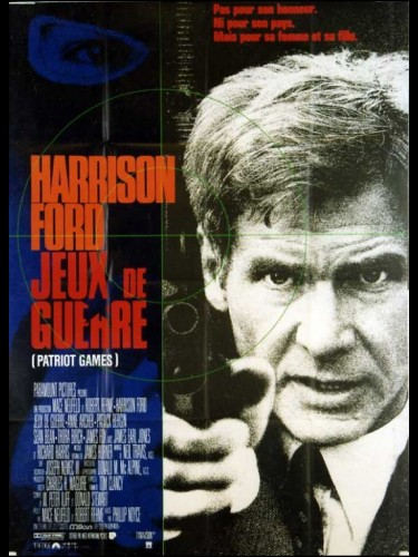 Affiche du film JEUX DE GUERRE - Titre original : PATRIOT GAMES