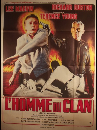 Affiche du film L'HOMME DU CLAN - Titre original : THE KLANSMAN