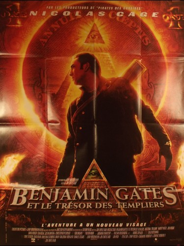 Affiche du film BENJAMAIN GATES ET LE TRESOR DES TEMPLIERS - Titre original : NATIONAL TREASURE