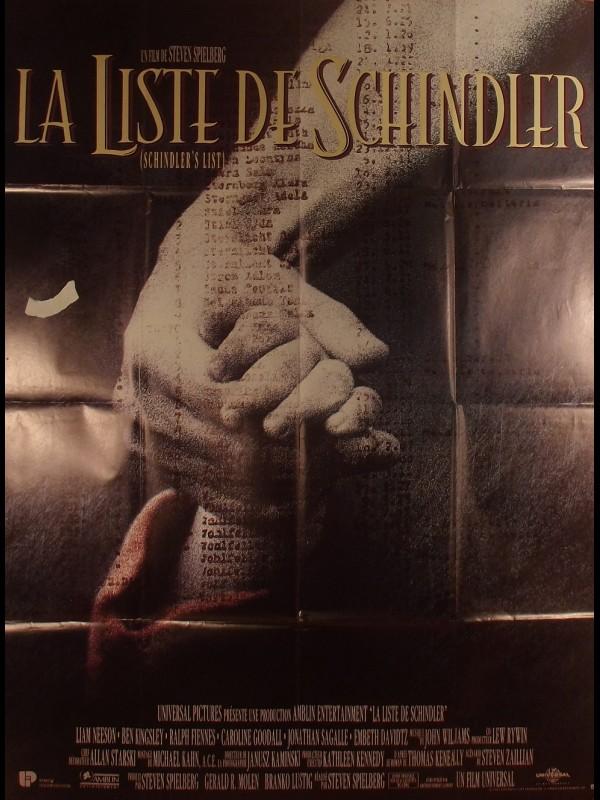 Affiche du film LA LISTE DE SCHINDLER - Titre original : SCHINDLER LIST