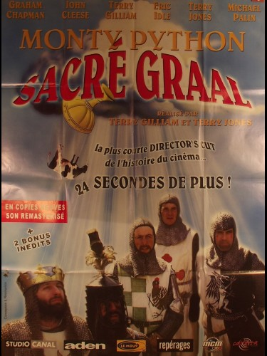 Affiche du film MONTY PYTHON SACRE GRAAL- Titre original : MONTY PYTHON AND THE HOLY GRAIL