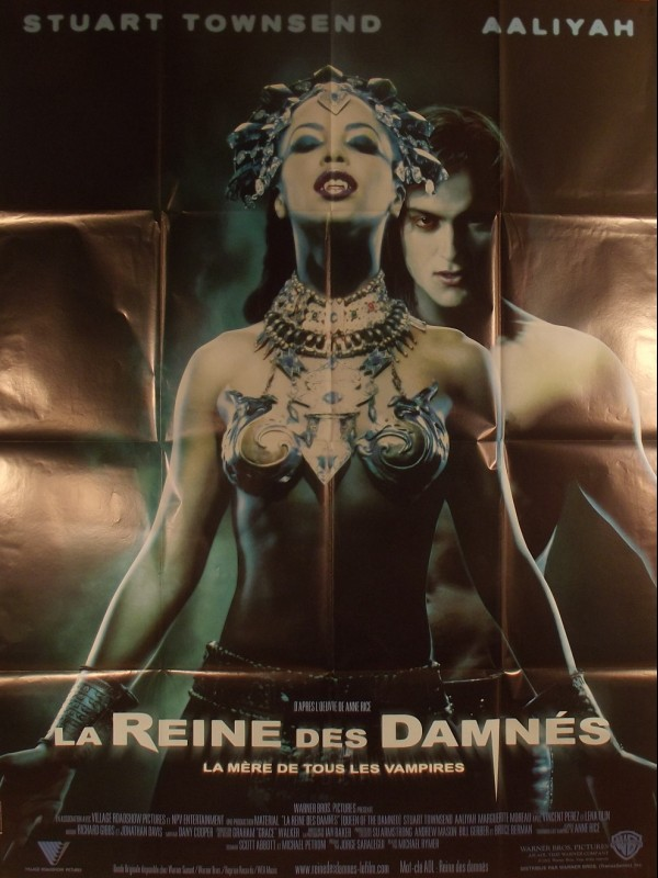 Affiche du film LA REINE DES DAMNES - Titre original : QUEEN OF DAMNED