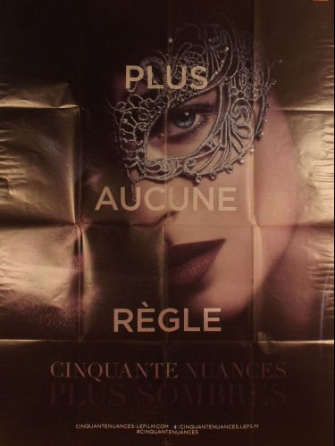 Affiche du film 50 NUANCES PLUS SOMBRES - Titre original : FIFTY SHADES DARKER