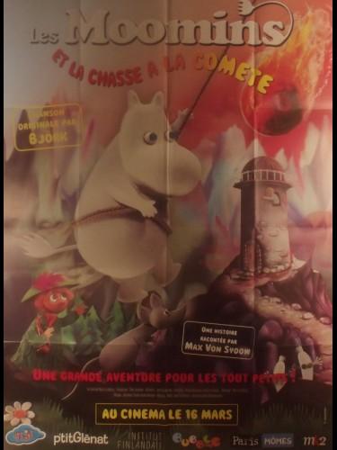 Affiche du film LES MOOMINS ET LA CHASSE A LA COMETE - Titre original : MUUMI JA PUNAINEN PYRSTOTANTI