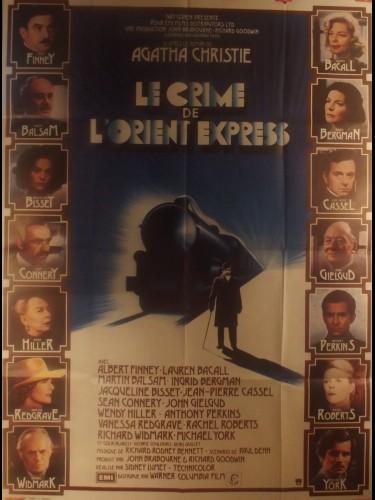 Affiche du film LE CRIME DE L'ORIENT EXPRESS - Titre original : MURDER ON THE ORIENT EXPRESS