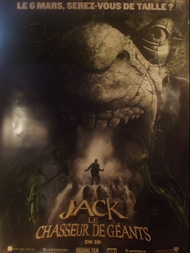 Affiche du film JACK LE CHASSEUR DE GEANTS - Titre original : JACK THE GIANT SLAYER