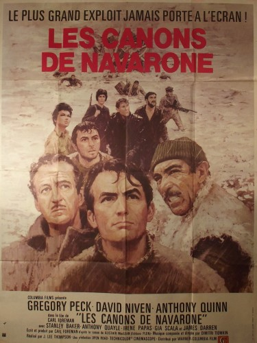 Affiche du film LES CANONS DE NAVARONE - Titre original : THE GUNS OF NAVARONE