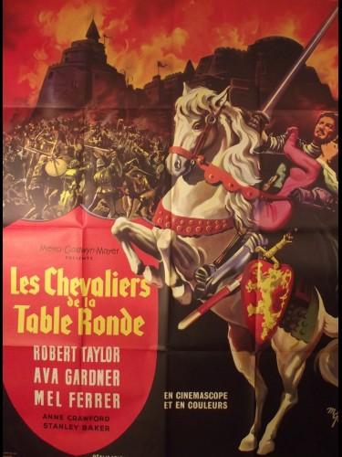 Affiche du film LES CHEVALIERS DE LA TABLE RONDE - Titre originale : KNIGHTS OF ROUND TABLE