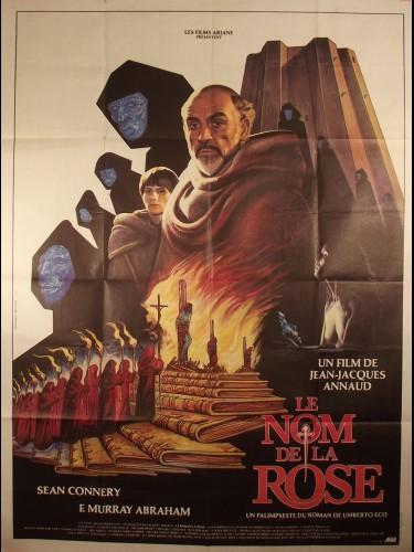 Affiche du film LE NOM DE LA ROSE - Titre original : THE NAME OF THE ROSE