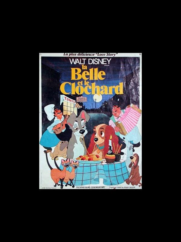 Affiche du film BELLE ET LE CLOCHARD (LA) - LADY AND THE TRAMP
